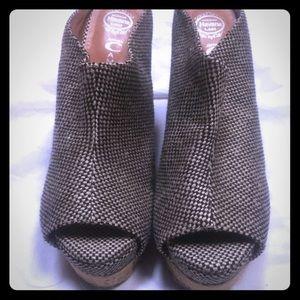 Jeffrey Campbell Havana woven wedge shoes 9